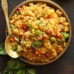 Vegetable Dalia Upma In a Brass Bowl