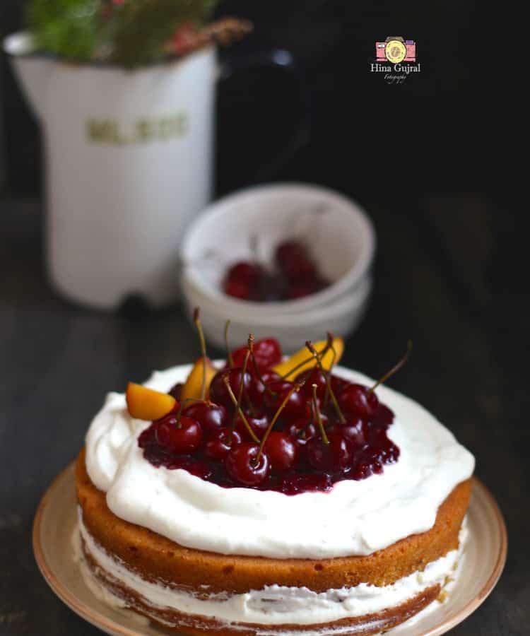 Homemade Eggless Sponge Cake Recipe