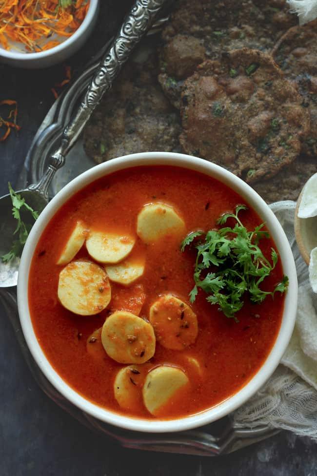Arbi ki Sabji without onion/garlic