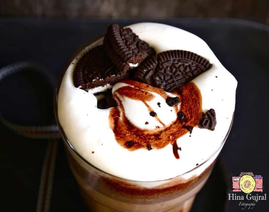 Oreo Frappe is the delicious cold coffee loaded with Oreo cookies. Find how to make cafe coffee day style crunchy oreo frappe in 15 minutes.