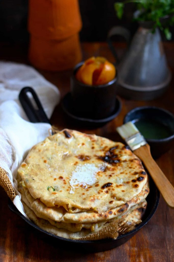 how to make layered paratha in telugu