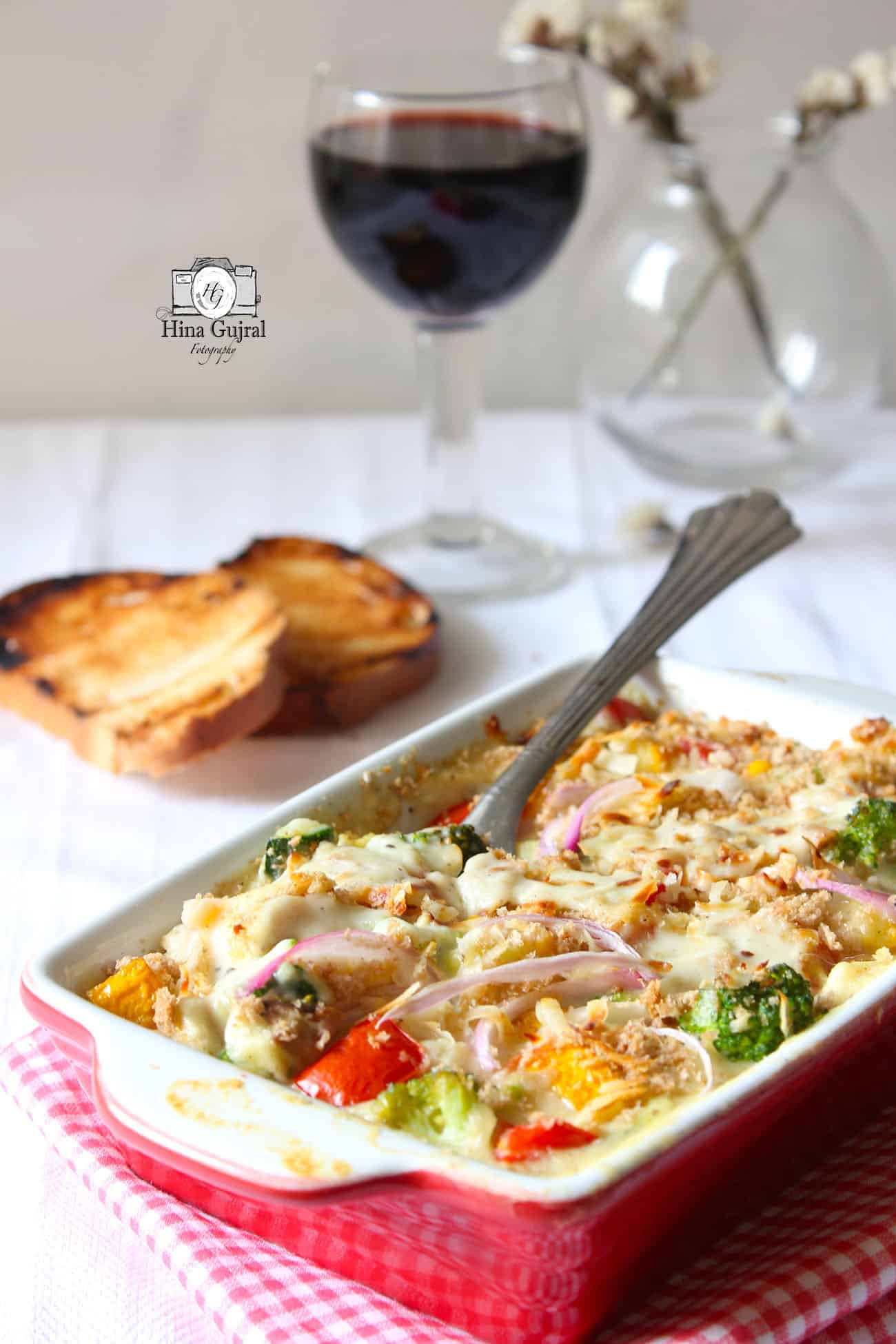 Baked vegetables in white sauce recipe fun food and frolic baked vegetable in white sauce recipe forumfinder Image collections