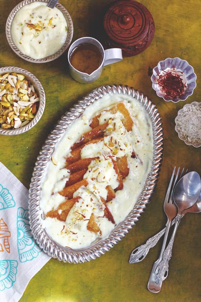 Baked Shahi Tukra Recipe