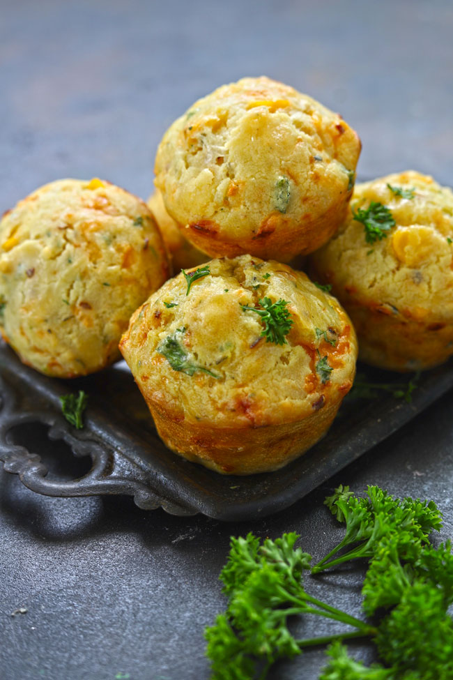 Cheese Muffin is perfect teatime snack loaded with cheese, sweet corn and fresh herbs.