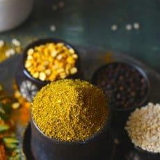 Homemade sambar masala