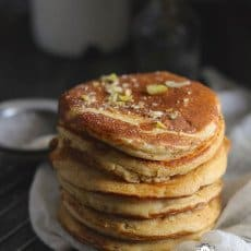 Healthy 100% Whole Wheat Pancakes