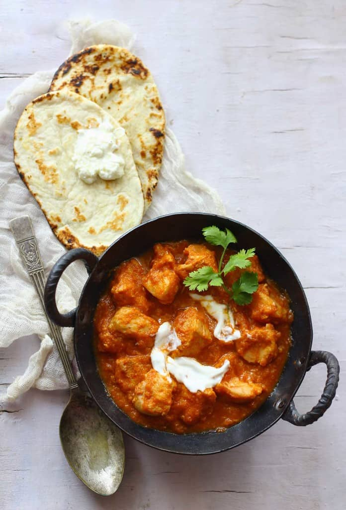 A quick and easy version of classic Indian Butter Chicken. That can be prepared for a meal in 30 minutes.