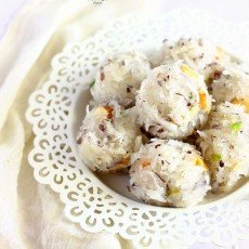 Coconut Laddo is a tasty, instant Indian sweet prepared with condensed milk and desiccated coconut