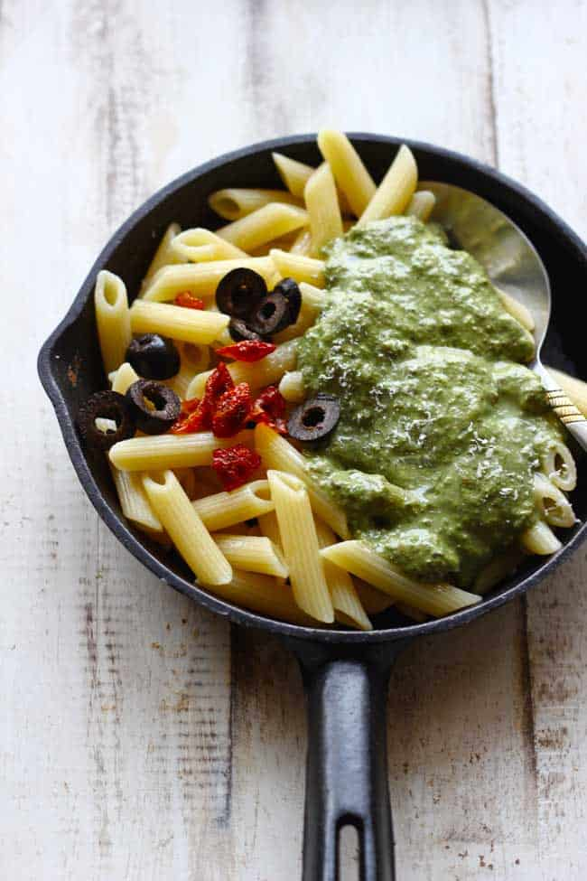 Our pesto pasta recipe is simple yet delicious; it's quick to make and packed with flavour of fresh basil.