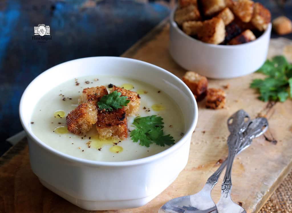Cream of Garlic Soup Recipe 3