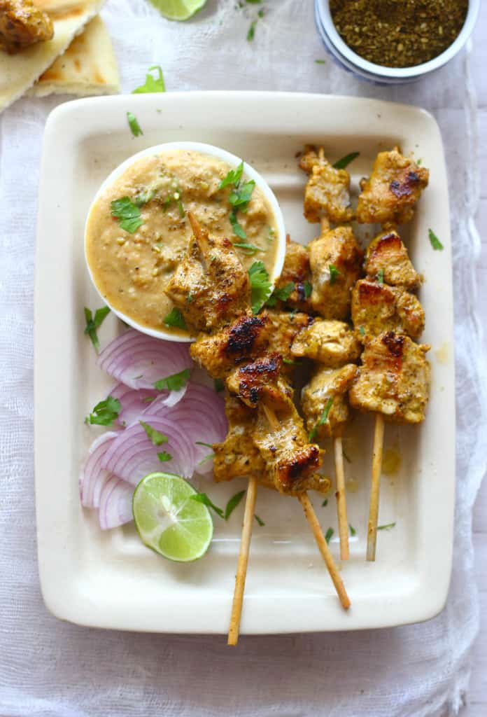 Tandoori Chicken Satay is an Indian style grilled chicken satay. Surely addictive and lip smacking good.