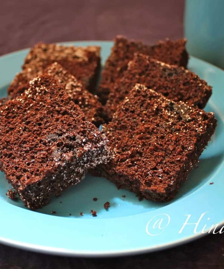 Eggless Chocolate Brownie Recipe - Fun FOOD and Frolic