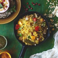 is ane of the simplest recipes I convey tried amongst the  Achari Paneer Tawa Pulao