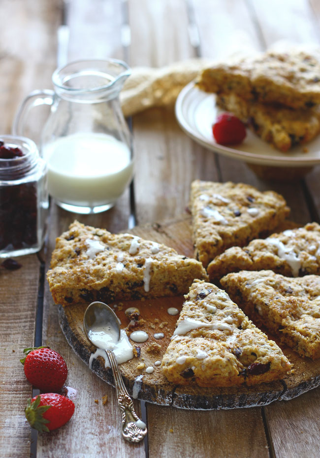 This eggless chocolate and walnut scone recipe always produce delicious, perfectly crumbly scones.