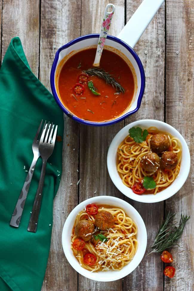 how to prepare spaghetti and meatballs