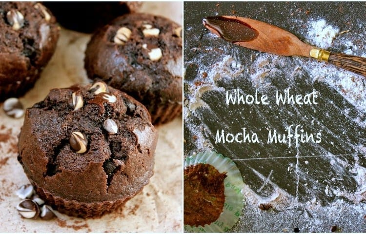 These mocha muffins are loaded with the aroma and flavor of coffee. Find how to make whole wheat mocha muffins in few simple steps
