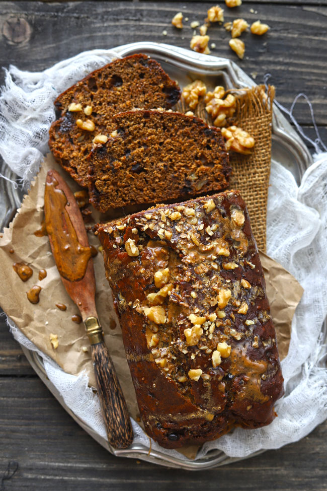 Date Nut Bread is a quick date bread packed with the goodness of walnuts.