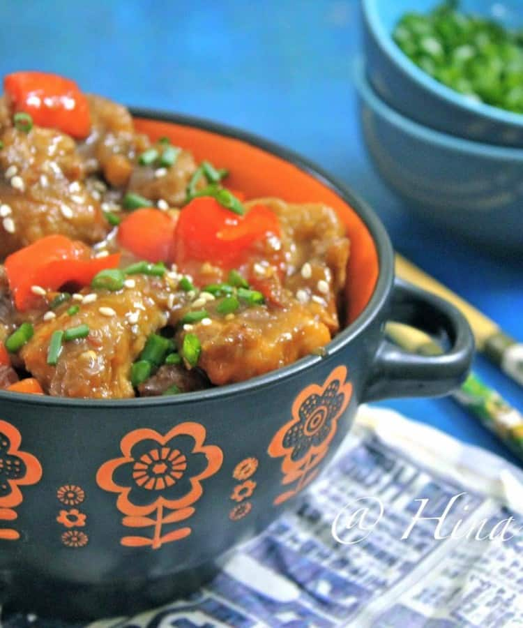 Sweet and savory plum chicken is one of the delicious stir-fry chicken recipes. Find how to make sweet and savory plum chicken in few simple steps