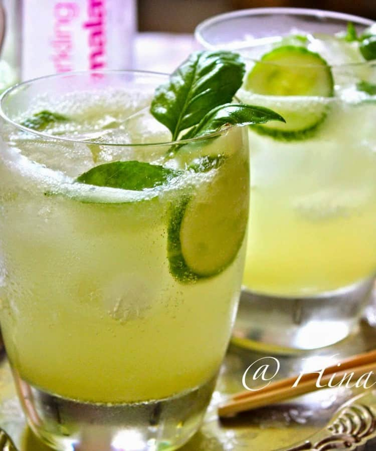 Cucumber Lemongrass Lemonade is an absolutely refreshing drink for the summer. Find Cucumber and Lemongrass Lemonade Recipe