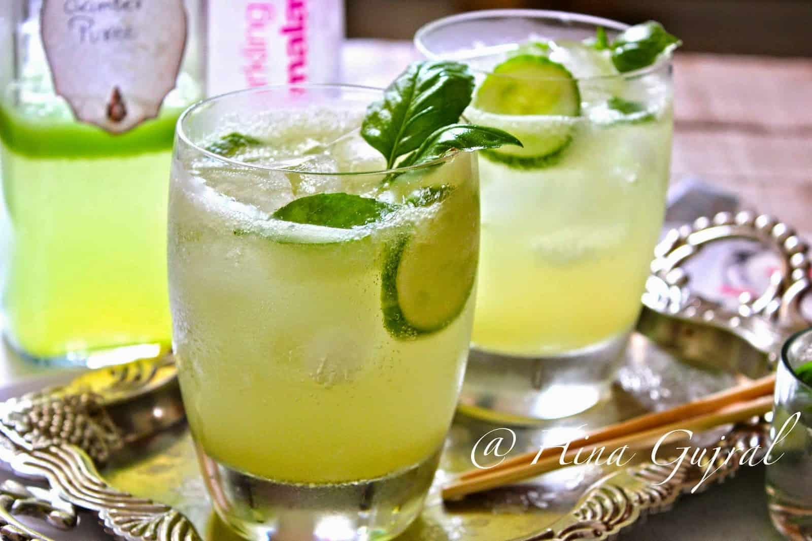 Cucumber - Lemongrass Lemonade Recipe - Fun FOOD and Frolic