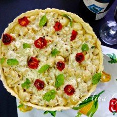 Find how to make Eggless Macaroni Cheese Pie with shortcrust pastry. It is so easy to make and tastes absolutely delicious