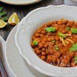 Kale Chane without Onion/Garlic (Bengal Gram stewed in tomato sauce)