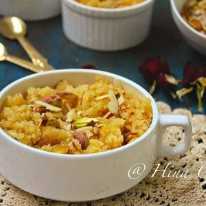 saffron together with milk makes it a perfect festive dessert Moong Dal Halwa Recipe