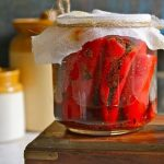 Lal Mirch ka Achaar (Stuffed Red Chili Pickle)