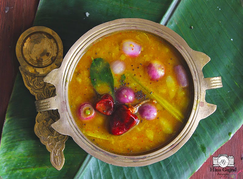 Sambar is a gluten-free, vegan South Indian curry of lentil and mixed vegetables