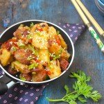 Potato and Red Beans Chinese Stir Fry