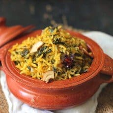 Methi Brown Rice Pulao is an ideal combination of delicate flavors packed with nutritional benefits. Find how to make methi brown rice pulao