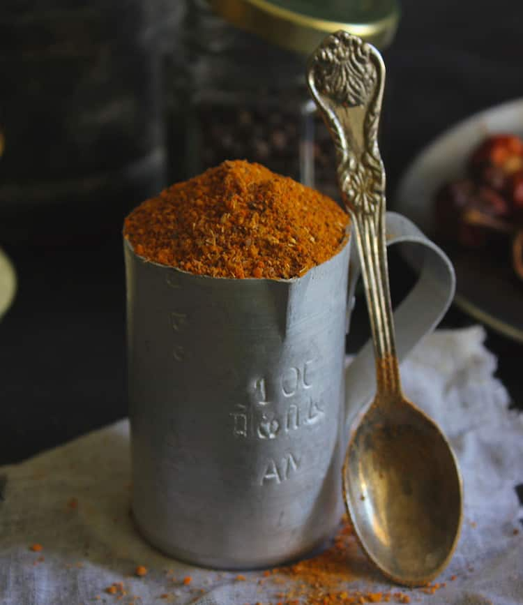 Homemade Rasam Powder is an essential spice mix in the South Indian Cuisine usually used to spike up the flavor of rasam.