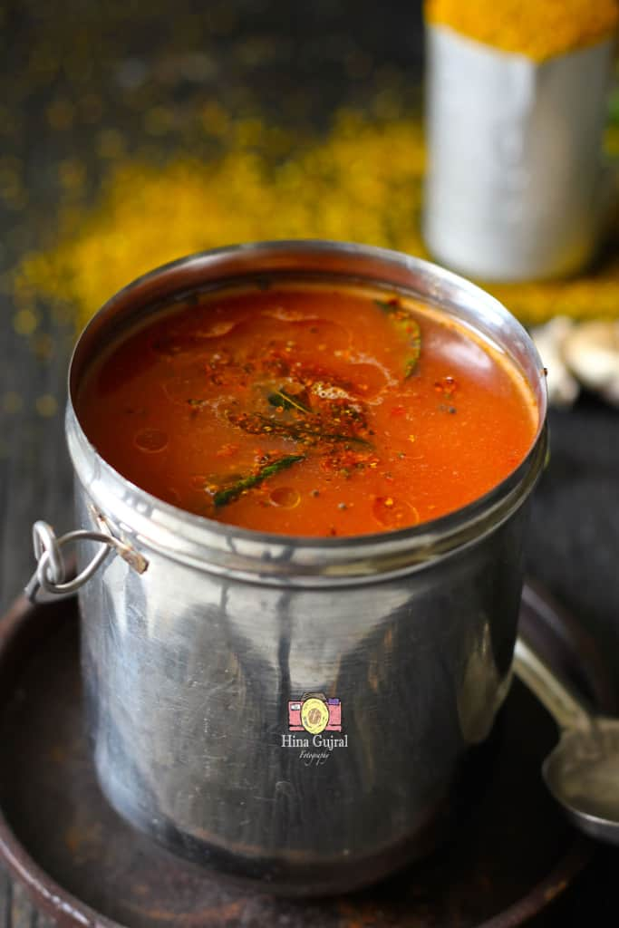 Tomato Garlic Rasam Recipe