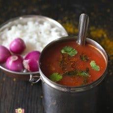 Tomato Garlic Rasam Recipe