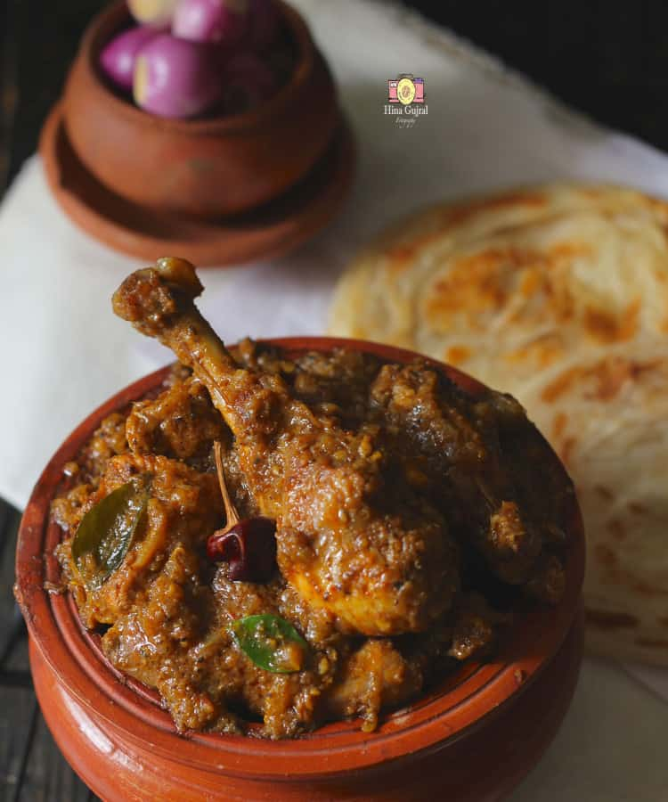 Chicken Chettinad Curry is the peppery, hot and delicious chicken curry from the land of Chettiyars, the trading community of India.