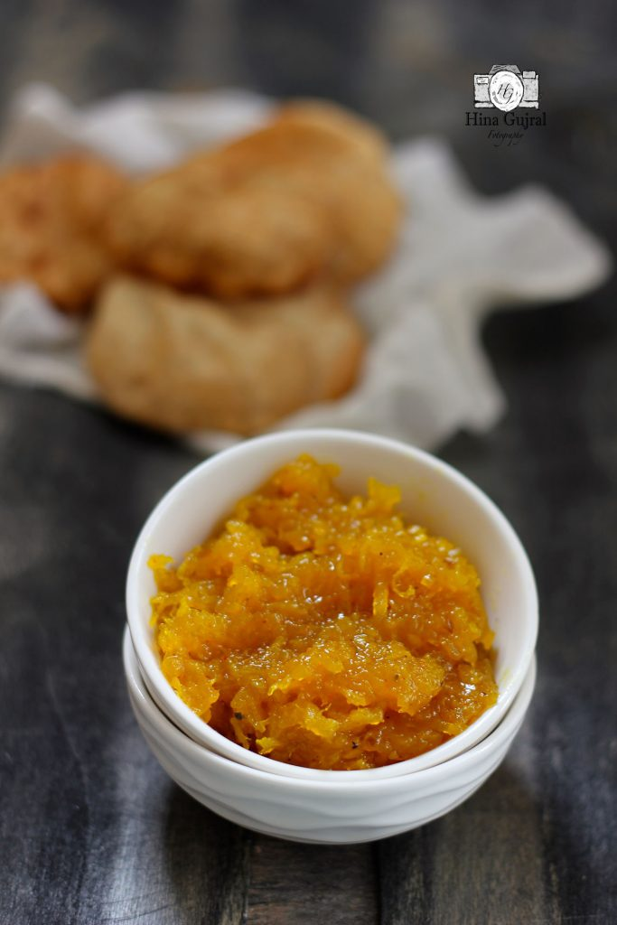 is a classic conventional grated raw mango condiment Sweet Raw Mango Chutney Recipe (Chundo)