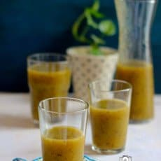 Kiwi Ka Panna Recipe (Indian Style Kiwi Sherbet)