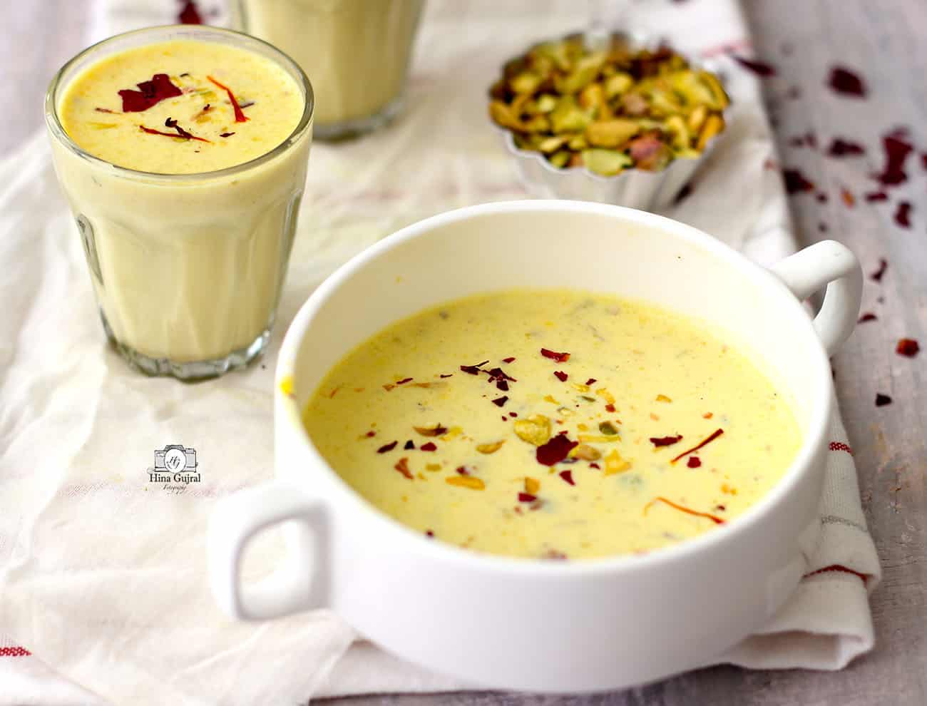 is a traditional Gujarati milk pudding laced amongst the rich flavour of saffron too dry out fru Basundi Recipe Video