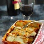 Keema and Spinach Lasagna Cannelloni Recipe