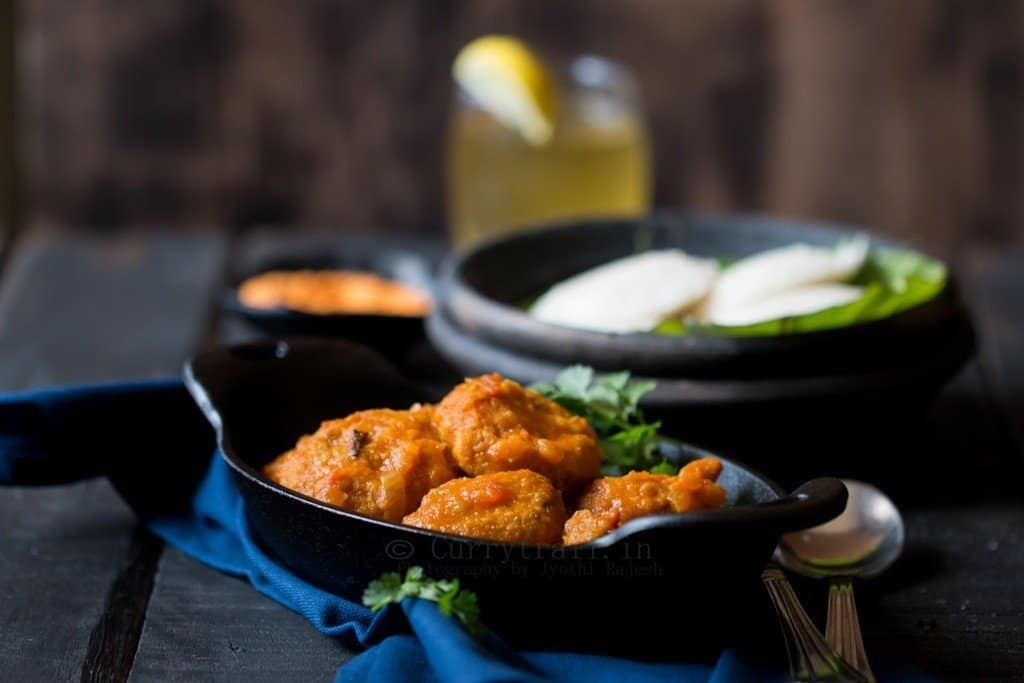 South Indian Vada Curry Recipe (Vadakari) is a specialty from Tamil Nadu which is made from masala vadai (Bengal gram fritters). Find recipe of Vadakari