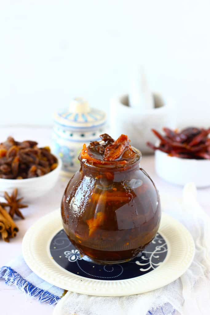 Amchur Ki Launji is a delectable Indian condiment perfect to dip in paratha or snacks.