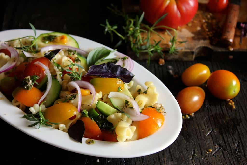 in this salad become far a adept selection for a lite summertime dejeuner Farm Fresh Pasta Salad Recipe