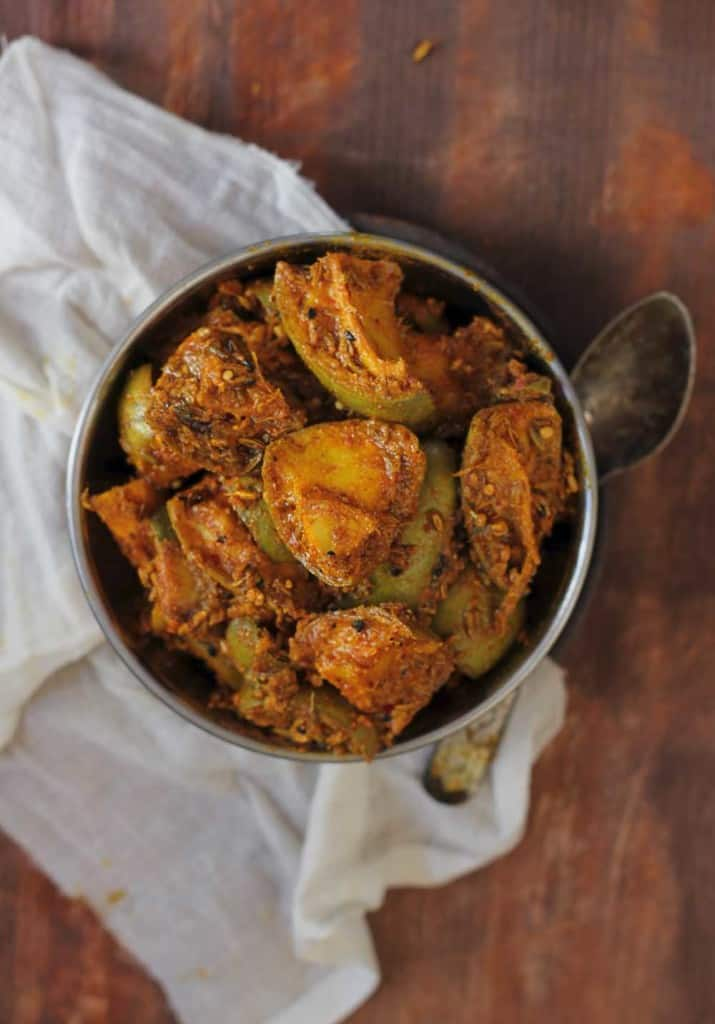 Salty, spicy, savory, Aam Ka Achaar is an amalgamation of all favorite flavors from grandma's kitchen.