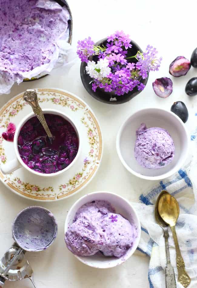Homemade frozen yogurt tastes better than anything you can buy at store. Try this Jamun (Java Plum) Frozen Yogurt Recipe this season