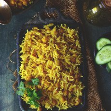 m happily married to the human being of my dreams  Chana Dal Pulao Recipe
