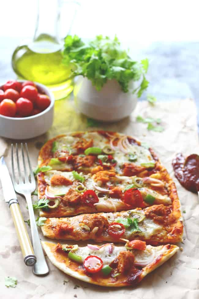 Thinking what to do with leftover naan? Make Naan Pizza out of it. You will surely thank me for this easy naan pizza recipe.