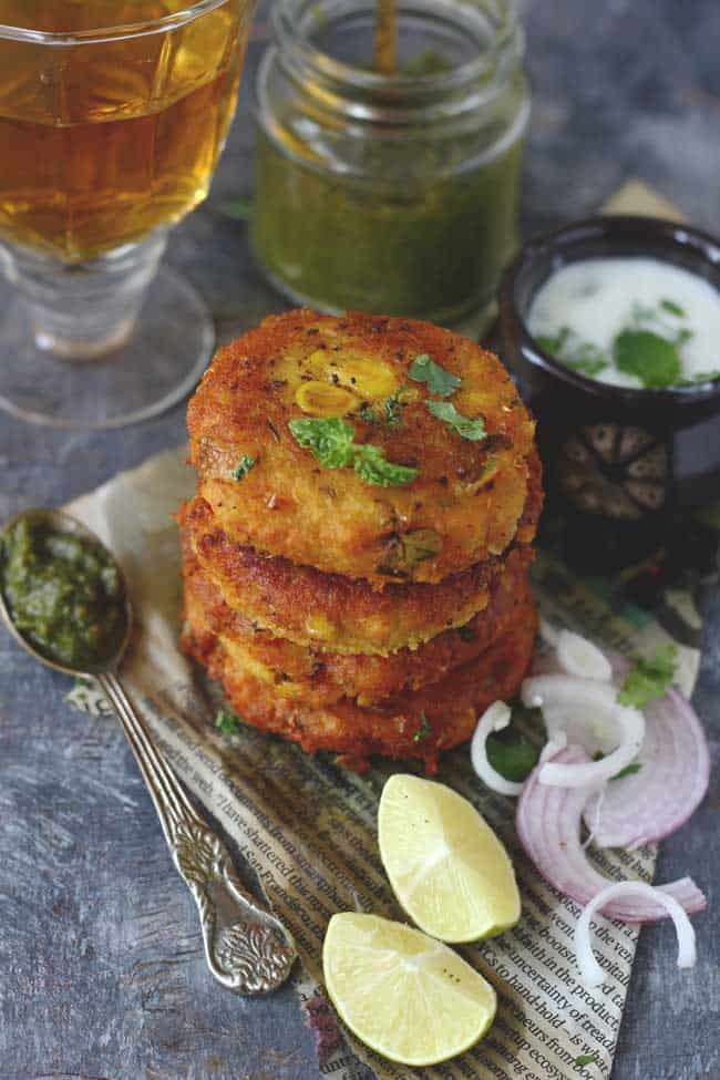Looking for a tikki recipe other than aloo tikki? Try crisp, delicious corn and paneer tikki recipe. You'll absolutely love it.