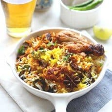 Leftover Chicken Biryani