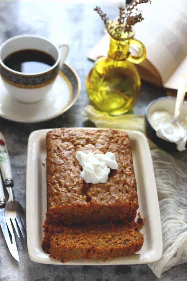 Eggless Banana Loaf Cake is a delicious, quick to bake, tea-time treat recipe, perfect for the evening tea-time.