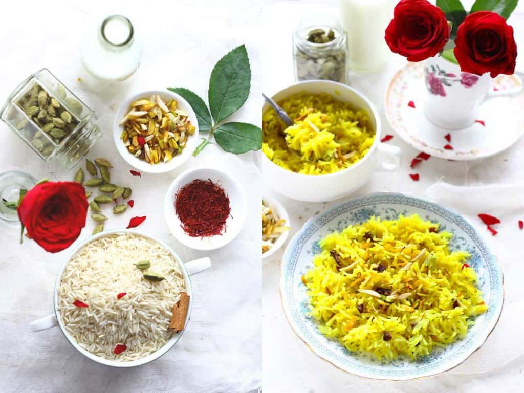 Meethe Chawal is one of the most auspicious dishes to celebrate the Indian spring festivals such as Baisakhi and Bengali New Year. Learn best zarda recipe